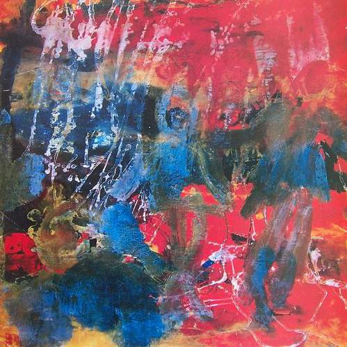 Buntes Gemälde im expressionistischen Stil