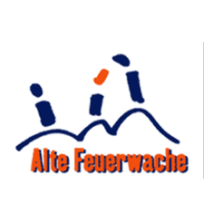 Blau oranges Logo der Alten Feuerwache