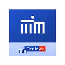 blau weißes Logo der Senatsverwaltung