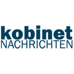 blau weißes Logo der Kobinet Nachrichten