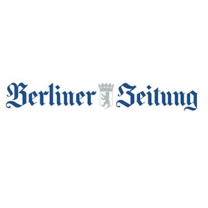 blau weißes Logo der Berliner Zeitung