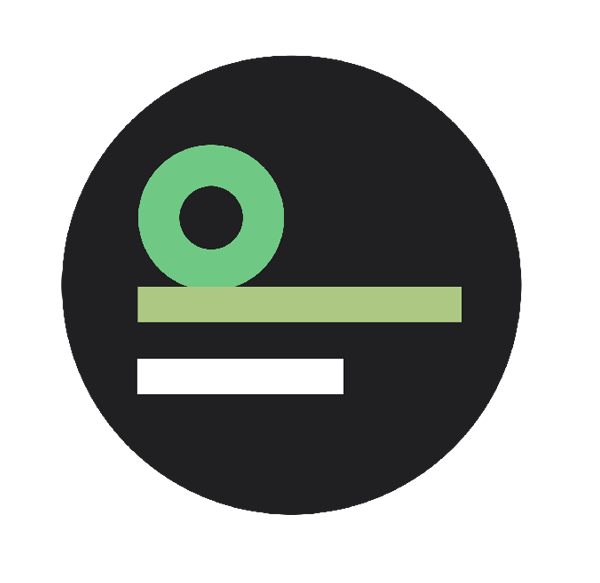 Bildmarke des Indiwi. Ein Kreis, auf dem um 90 Grad verdreht ein kleines d und ein kleines i stehen. Das D ist grün, das i ist weiß, beides auf schwarzem Grund.